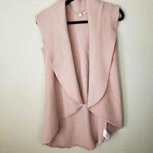 Moth Wool Open Front Vest